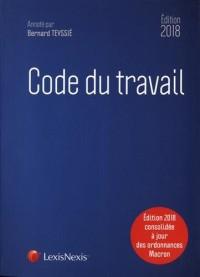 Code du travail 2018: Editions 2018 consolidée à jour des ordonnances Macron