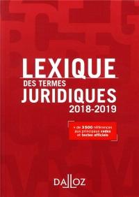 Lexique des termes juridiques 2018-2019 - 26e éd.