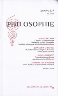Philosophie, N° 114, été 2012