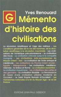 Memento d'Histoire des Civilisations