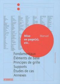 Mises en page(s) etc : Manuel