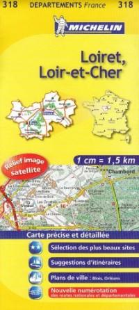 Carte DPARTEMENTS Loiret, Loir-et-Cher