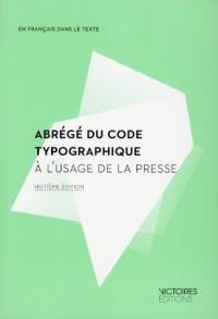 Abrégé du code typographique