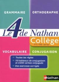 Le 4 de Nathan : Grammaire collège 6e à 3e