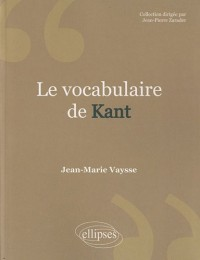 Le vocabulaire de Kant
