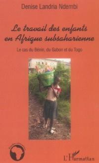Travail des enfants en afrique subsaharienne