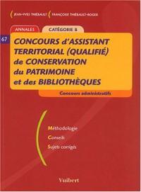 Concours d'assistant territorial (qualifié) de conservation du patrimoine et des bibliothèques : Annales, Catégorie B