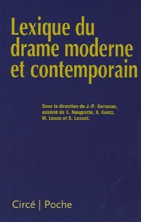 Lexique du drame moderne et contemporain