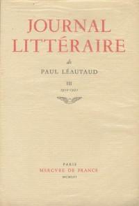 Journal littéraire. 1910-1921, tome 3