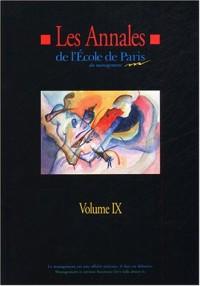 Les annales de l'Ecole de Paris : Volume 9