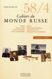 Cahiers du Monde Russe 58/4