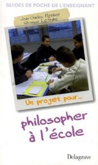 Philosopher à l'école