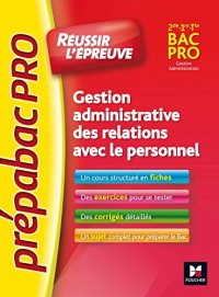 PREPABAC Pro - Gestion administrative des relations avec le personnel - G.A - Nº3