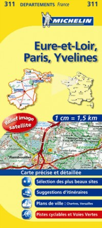 Eure-et-Loir, Paris, Yvelines : 1/150 000