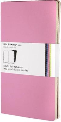 Carnet Volant blanc - Grand format - Set de 2 pièces - Rose - Couverture souple - 13 x 21 cm