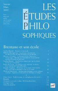 Les études philosophiques, numéro 1 : 2003 - Brentano et son école