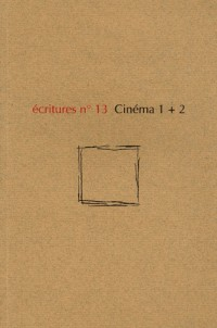 Ecritures nø13 cinema 1+2