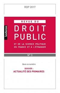 Revue du Droit Public et de la Science Politique en France et a l'tranger N 3-2