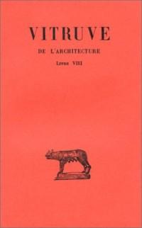 De l'architecture tome 8