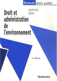 Droit et administration de l'environnement
