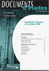 Constitution française du 4 Octobre 1958 : N°1.04
