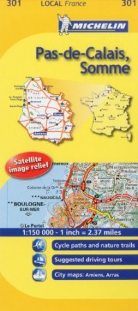 Michelin Map France: Pas-de-calais, Somme 301