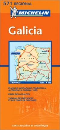 Carte routière : Galicia, N° 11571 (en espagnol)