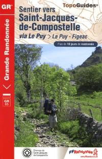 Sentier vers Saint-Jacques-de-Compostelle : Via Le Puy Le Puy/Aubrac/Conques/Figeac