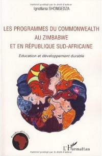 Les programmes du Commonwealth au Zimbabwe et en République sud-africaine : Education et développement durable