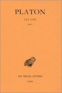 Platon, tome 11, 2e partie : Les Lois - Livres III-VI
