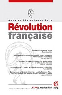 Annales historiques de la Révolution française nº388 (2/2017) Varia