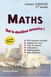 Mathématiques, Premier cycle : Licence sciences, 1re année 2e semestre