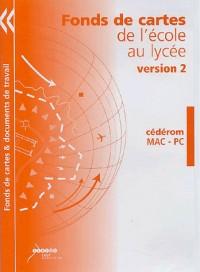 Fonds de cartes de l'école au lycée : CD-ROM version 2