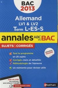 Annales Bac 2013 Allemand l Es S Corriges N22