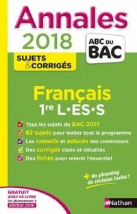 Annales Bac Français 1re L-ES-S 2018