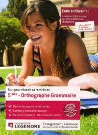 Tout pour réussir sa rentrée en Orthographe Grammaire 5e