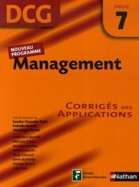 Management Epreuve 7 - DCG - Corrigés des applications
