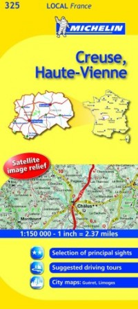 Michelin Map France: Creuse, Haute-vienne 325