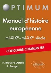 Manuel d'Histoire Européenne mi-XIXe-mi-XXe Siècle Concours Commun IEP