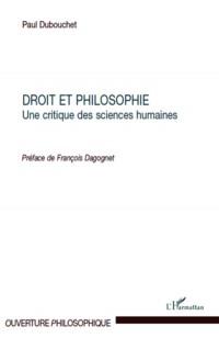 Droit et philosophie : Une critique des sciences humaines