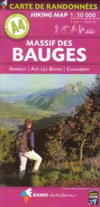 Massif des Bauges : Annecy, Aix-les-Bains, Chambéry, 1/50 000