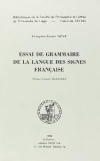 Essai de Grammaire de la langue des signes française