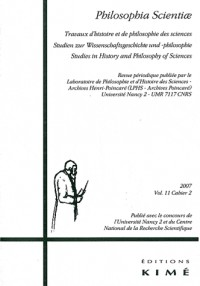 Philosophia Scientiae, N° 11/2 :