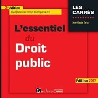 L'Essentiel du droit public 2016-2017 - 3ème Ed.