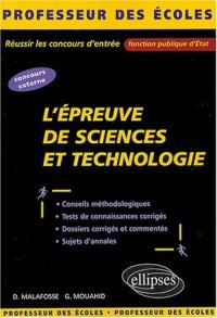 L'épreuve de Sciences et Technologie