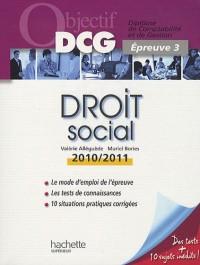 Droit social : Epreuve 3 du DCG