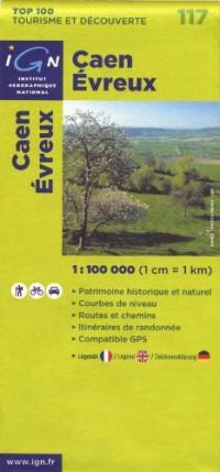 Caen Evreux : 1/100000