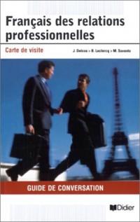 Français des relations professionnelles : Carte de visite