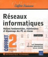 Réseaux informatiques - Coffret de 2 livres : Notions fondamentales, maintenance et dépannage des PC en réseau (2e édition)