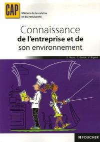 Connaissance entreprise environnement CAP Métiers de la cuisine et du restaurant